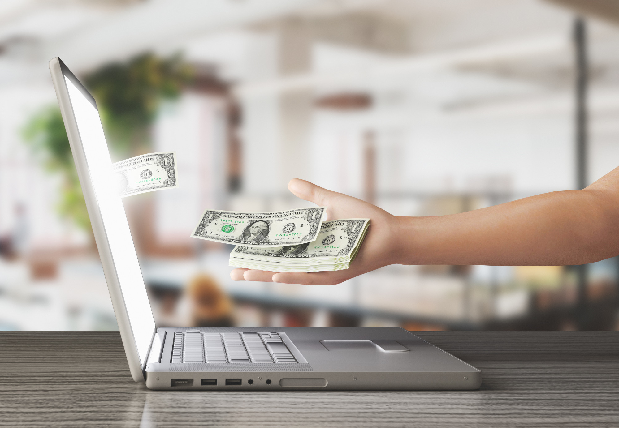 cash a check online without id