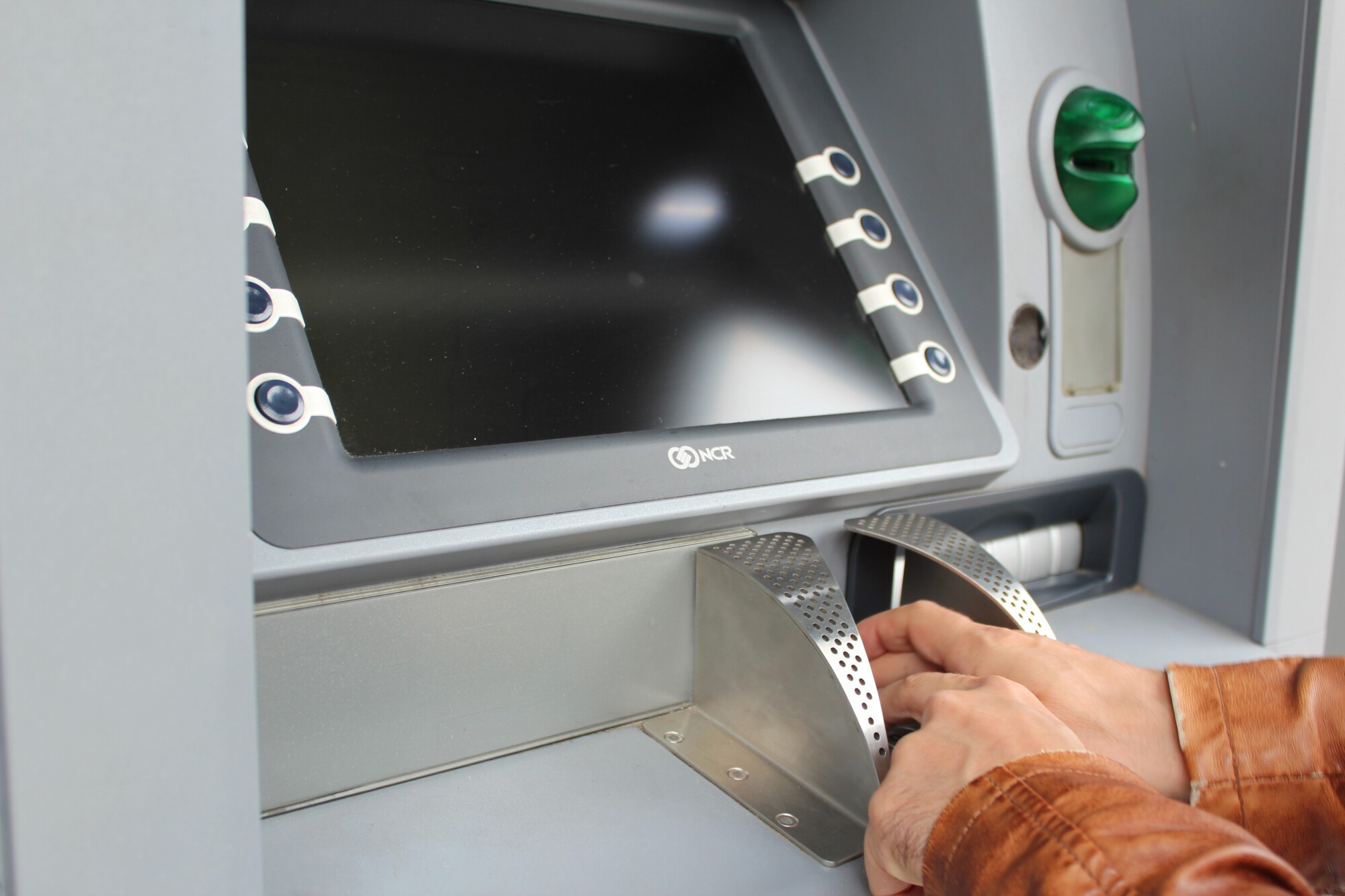 cashing a check at the atm